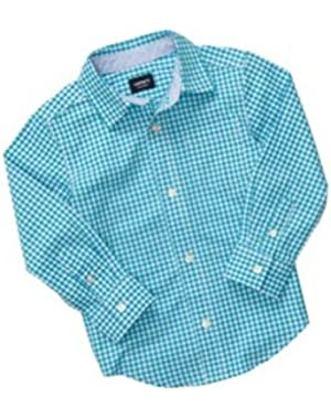 Carter's Baby Boys' Plaid Button-front Oxford Shirt