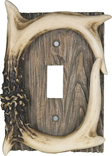 (River's Edge Products Deer Antler Single Switch Cover)