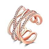 efigo Fashion Womens Statement Ring Stackable