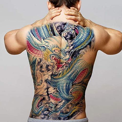 tzxdbh Gran Espalda Completa Tatuaje maorí Totem de Poder ...
