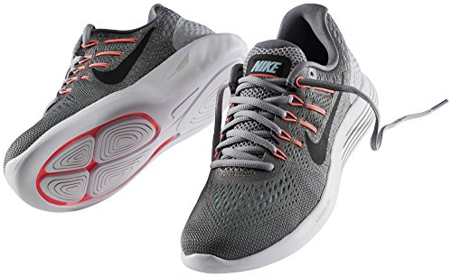 Nike Damen Lunarglide 8 Laufschuhe Grau (Cool Grey/Black/Wolf Grey/Polarized Blue)