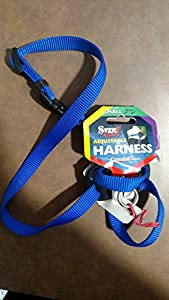"Size Right Adjustable Harness - Dog Harness - Blue - Girth 18"" to 24"", Width 5/8"""