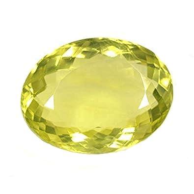 Buy Ratnagarbha Lemon Quartz Cut Oval Shape Faceted Loose
