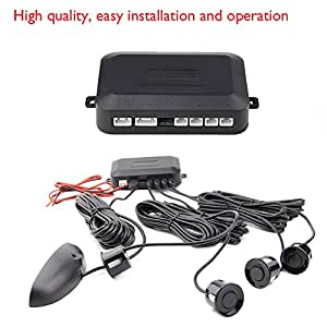 venta caliente coche de los sensores de radar de alerta aparcamiento marcha atr¨¢s Negro sistema de 4 sensores de estacionamiento