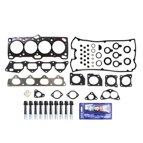 NEW EH233T1HBSI Head Gasket Set RTV Silicone & Head Bolt Kit for 2.0L 6-Bolt 4G63 4G63T Turbo & Non-Turbo Mitsubishi Eclipse Galant Eagle Talon Plymouth Laser 4G61 G4CR G4CN 89-92 (4g63 Cylinder Head)