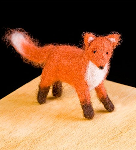 Red Fox Wool Needle Felting Craft Kit by WoolPets. Made in the USA. Fox Needle
