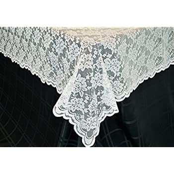 54 In X 108 In Lace Table Overlays, Lace Tablecloths Rectangle, Rectangular Lace  Table