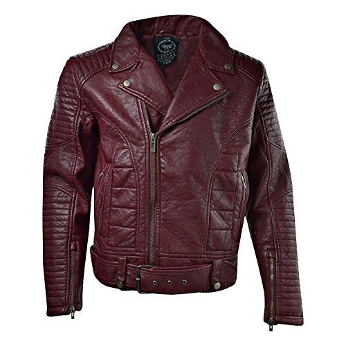 Jordan Craig Men's Moto Jacket Wine 91282 (L) by Jordan Craig