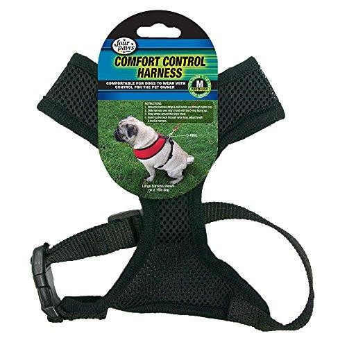 - Four Paws Medium Black Comfort Control Dog Harness