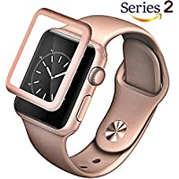 Josi Minea Apple Watch [38mm] 3D Curved Tempered Glass Screen Protector with Edge to Edge Coverage Anti-Scratch...