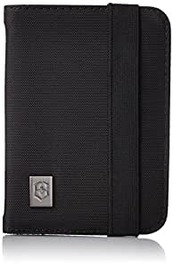 Victorinox Passport Holder with RFID Protection, Black/Black Logo (Black) - 311722