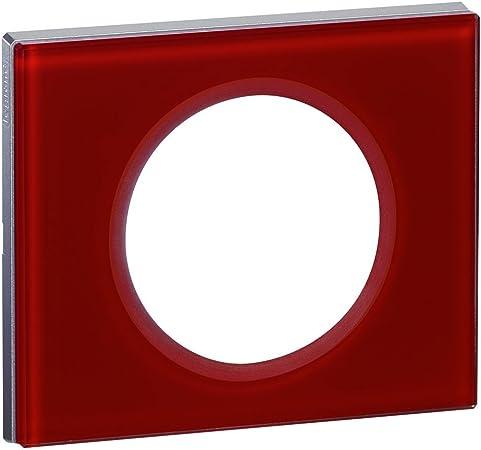 nouveau sélection différemment trouver le prix le plus bas Legrand - LEG69471 - Céliane Plaque avec 1 Poste - Verre Carmin