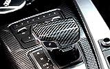 iJDMTOY Glossy Black Carbon Fiber Pattern Shift
