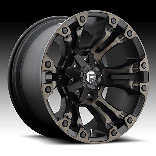 15 8 Lug Rims (Fuel D569 Vapor 15x8 6x139.7 -16mm Black/Machined Wheel Rim)