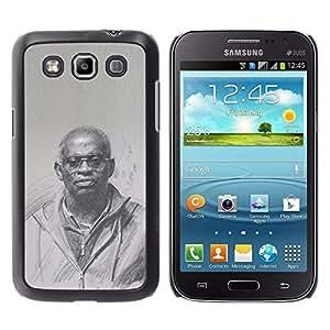 Historia Negro Rey Sacerdote Dios Cultura- Metal de aluminio y de plástico duro Caja del teléfono - Negro - Samsung Galaxy Win I8550