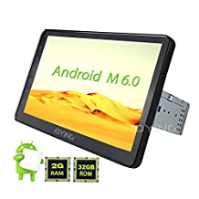 JOYING 10.1'' Android 6.0 Marshmallow Quad Core 2GB RAM 32GB ROM Single Din Universal Car Radio Stereo Head Unit In Dash GPS Navigation Receiver Deck 1024x600 Touch Screen Bluetooth MirrorLink PIP