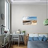 prestigeart-Bilder-Strand-Meer-Wandbild-Vlies-Leinwand-Bild-XXL-Format-Wandbilder-Wohnzimmer-Wohnung-Deko-Kunstdrucke-70-x-40-cm-Blau-1-Teilig-100-MADE-IN-GERMANY-Fertig-zum-Aufhngen-604014a
