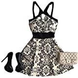 Tuesdays2 Summer Sexy Women Sleeveless Party Dress Evening Cocktail Casual Mini Dress (XXL)