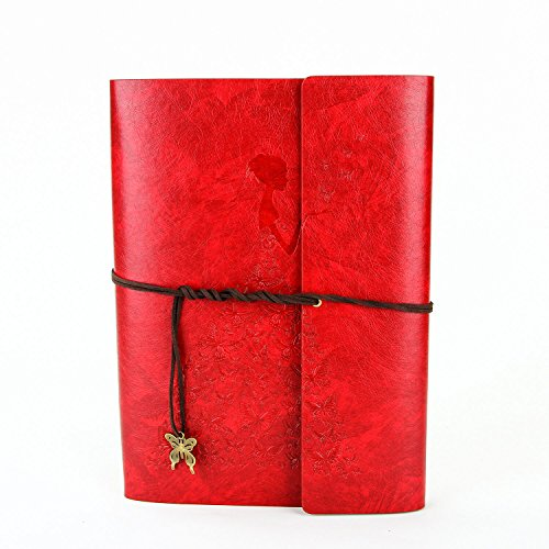 Artificial leather Cover Retro Photo Album DIY Gift Red - 3