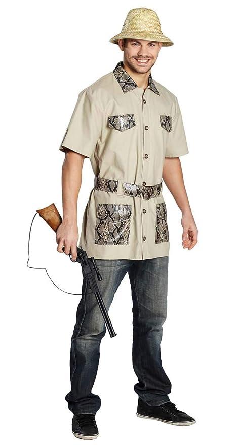 Traje para hombre safari, khaki africano, traje: Amazon.es ...