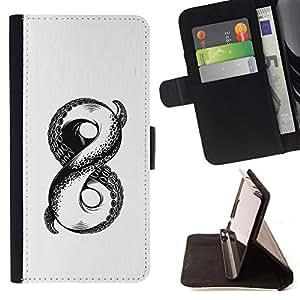 BullDog Case - FOR/LG Nexus 5 D820 D821 / - / white sketch octopus monster infinity /- Monedero de cuero de la PU Llevar cubierta de la caja con el ID Credit Card Slots Flip funda de cuer