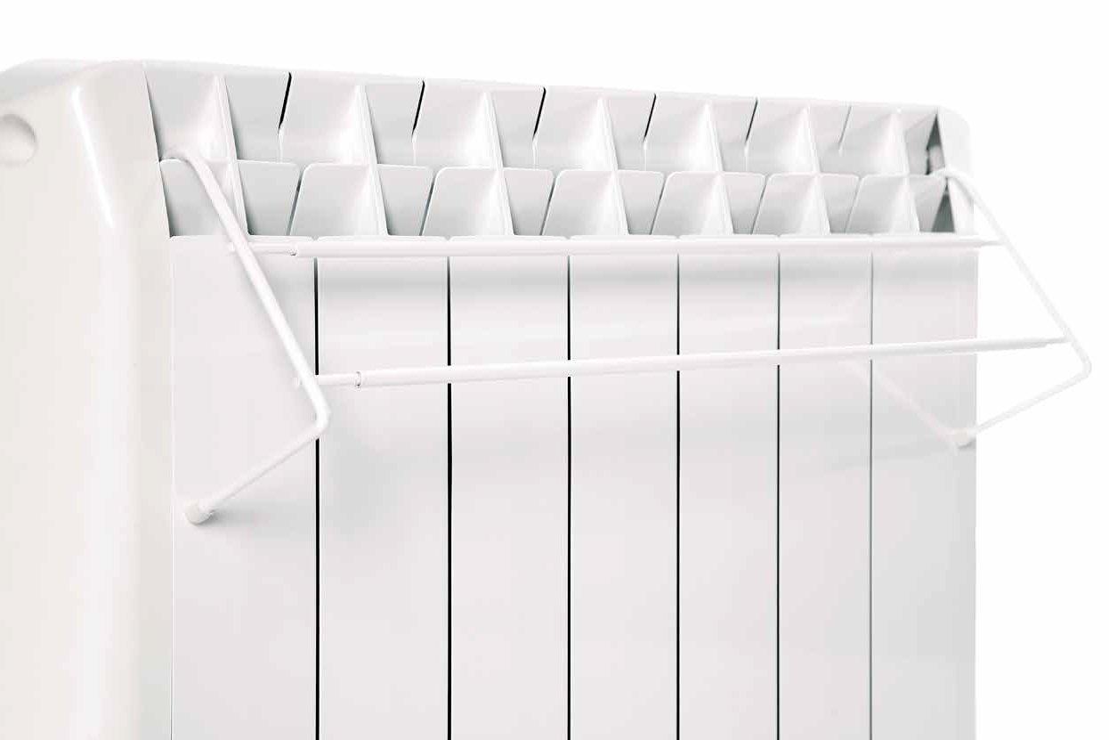 Farho - Tendal Telescópico de Acero lacado en Blanco para emisores térmicos Farho de todas las medidas desde los modelos de 5 elementos , colgador para ...