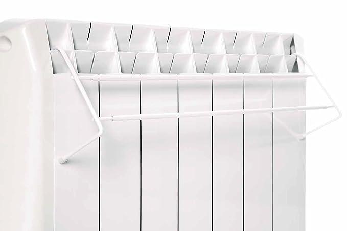farho - Tendal Telescópico de Acero Lacado en Blanco para emisores térmicos Todas Las Medidas Desde los Modelos de 5 Elementos. para Secado de Toallas y ...