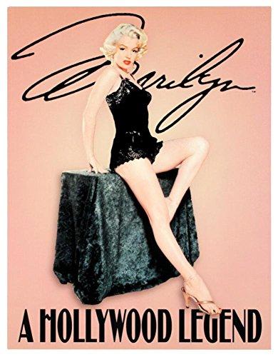 Marilyn Monroe A Hollywood Legend Retro Vintage Movie Tin Sign TIN Sign 7.8X11.8 INCH