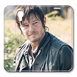 iCustomonline Leather Case for Samsung galaxy S4, The Walking Dead Daryl Ultimate Protection Leather Case for Samsung galaxy S4 hjbrhga1544