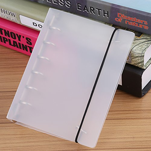 3 Types 6 Ring Stretchable Binder Cover White for Loose-leaf Notebook Book Scrapbook Photo Album (A7)
