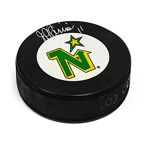J.P. Parise Minnesota North Stars Autographed Autograph Model Hockey Puck from Sports Collectibles Online