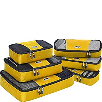eBags Packing Cubes - 6pc Value Set (Canary)