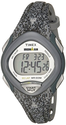 Ironman Gray Watch - Timex Women's TW5M08600 Ironman Sleek 30 Gray Speckled Resin Strap Watch