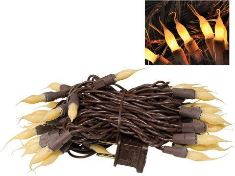 Silicone Dipped Lights Brown Cord Country Primitive Lighting Décor