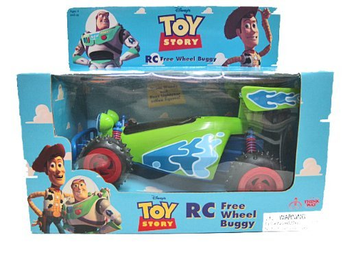 amazon com toy story r c free wheel buggy by thinkway toys toys