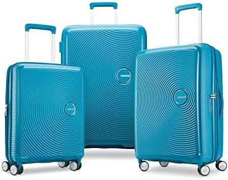 American Tourister Curio Hardside Luggage with Spinner Wheels, Biscaye Blue, 3-Piece Set (20/25/29)