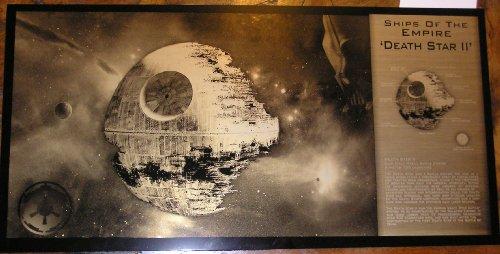 Geekograph Star Wars Death Star II Ltd. Edition Metal Art