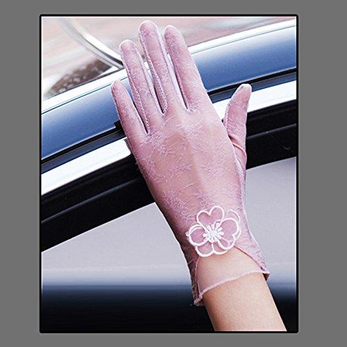 Coio 女性手袋 レディースUVカット レース 薄手日焼け防止 紫外線カット ブライダル手袋(スタイル2))