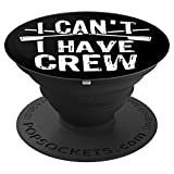 Funny Rowing Crew Gift for Rower Coxswain Sculler - PopSockets Grip and Stand for Phones and Tablets