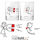 BOLDLOFT You Are Irresistible His and Hers Drinking Glasses- Valentines Day Gifts for Boyfriend, Husband Gifts, Couples Gifts for Him and Her, Romantic Gifts for Anniversary,Bridal Shower,Wedding