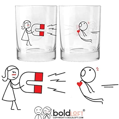 BOLDLOFT  You're Irresistible  His & Hers Drinking Glasses-His Hers Couple Gifts,Matching Couples Gifts,Christmas Gifts for Him for Boyfriend,Cute Valentines Day Gifts,Romantic Anniversary Gifts