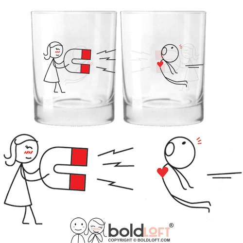 BOLDLOFT You're Irresistible His and Hers Drinking Glasses-Valentines Day Gifts for Boyfriend,Husband Gifts from Wife,Anniversary Gifts for Boyfriend,Gifts for Him,Couples Gifts,His and Hers Gifts (Girls Mean Drinking Glasses)