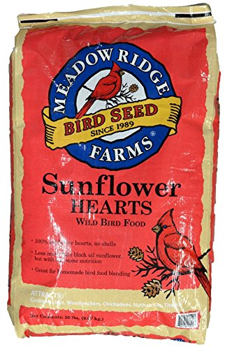 Meadow Ridge Farms Sunflower Hearts 20-Pound Bag (Meadow Heart)