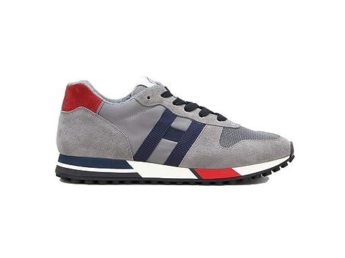 Hogan Scarpe Uomo Sneakers Running Grigio Blu Nuove con Lacci 5 21620567719