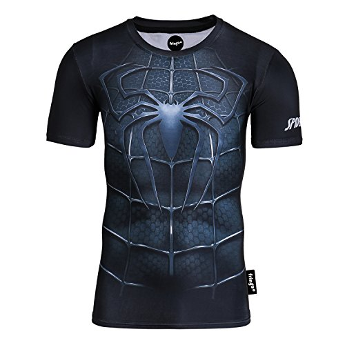 Fringoo® Mens Compression Superhero T-Shirt Base Layer Gym Long Sleeve Running Thermal Sweatshirt Workout Top Spider…