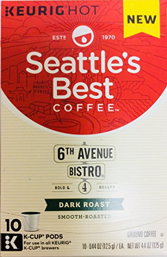 Seattle's Best Coffee 6th Avenue Bistro Bold & Roasty Level 4 Dark Roast -10 K-Cup Pods