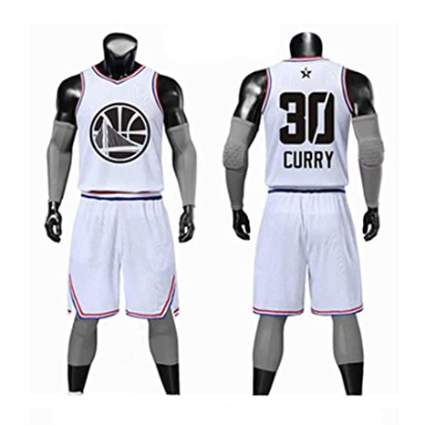 Camiseta De Baloncesto NBA Fan Jersey All-star Stephen Curry ...