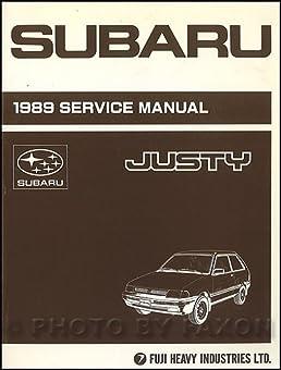 1989 subaru justy repair shop manual original subaru amazon com books rh amazon com Makers Service Repair Manual Appliance Repair Service Manuals