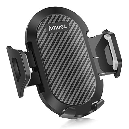 Amuoc Universal Smartphone Car Air Vent Mount Holder Cradle Compatible with iPhone Xs XS Max XR X 8 8+ 7 7+ SE 6s 6+ 6 5s 4 Samsung and All Smartphones