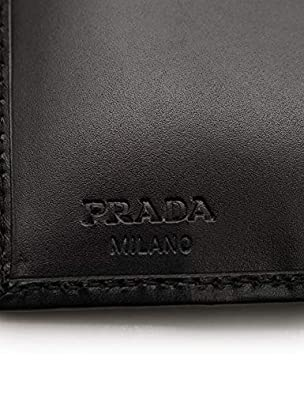 1788de3d6d26 Amazon | 美品 PRADA プラダ TESSUTO NIGHT Wホック二つ折り財布 1M0523 ナイロン 黒 ラインストーン【本物保証】  | PRADA(プラダ) | 財布